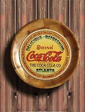 "VINTAGE COCA COLA LOGO on 10"" All Wooden Plate #3"