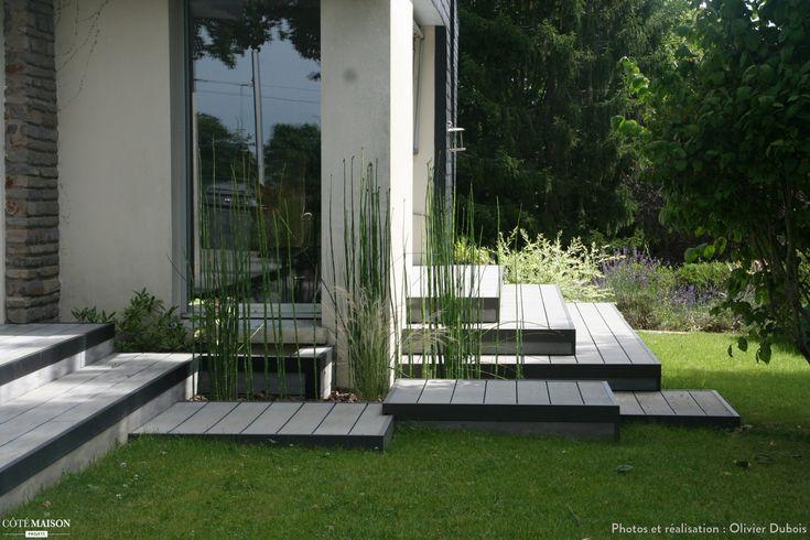 Terrasse bois composite gris, Olivier Dubois - Côté Maison