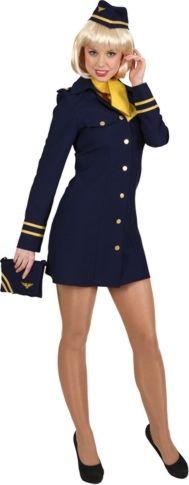 Stewardess Kostüm, blau