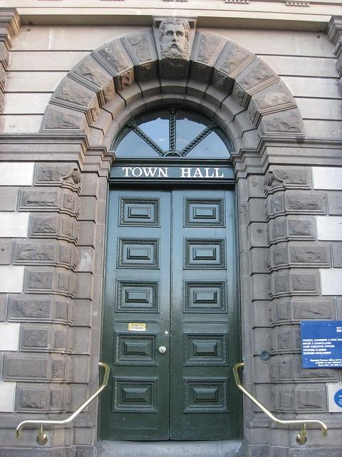 The Entrance to the Ballarat Town Hall - Sturt Street, Ballarat by raaen99, via Flickr Australia
