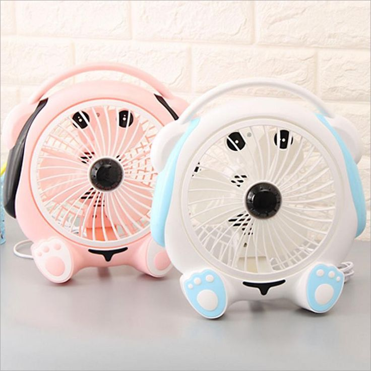 Cute Dog Blue Pink  Ventilateur  Desk Fan For Home Office ABS Electric Desktop Computer Fan 220-240V ar condicionado