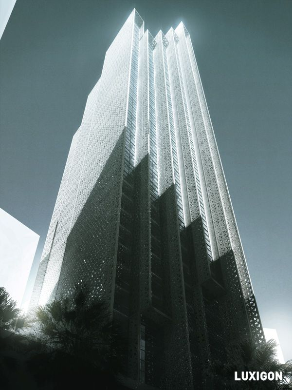 luxigon - Highrise Building Competition UAE, by oppenheim