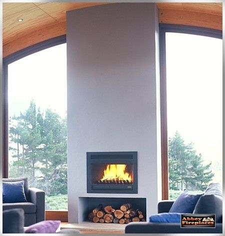 Heatmaster open wood fireplaces and Heatmaster zero clearance fireplaces by Abbey Fireplaces.
