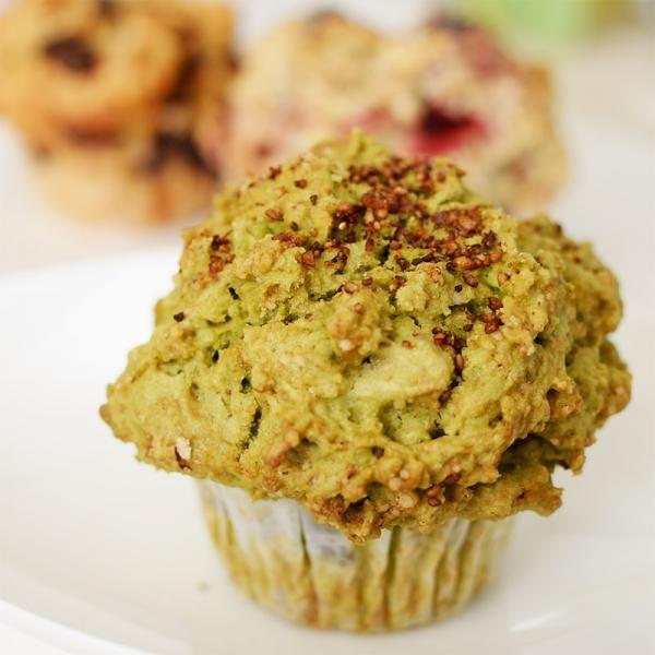 食べごたえのあるサイズと食感が人気の「抹茶&有機甘栗&そば茶」のマフィンゴー・マフィン・ゴー (Go! Muffins go!) - 西荻窪