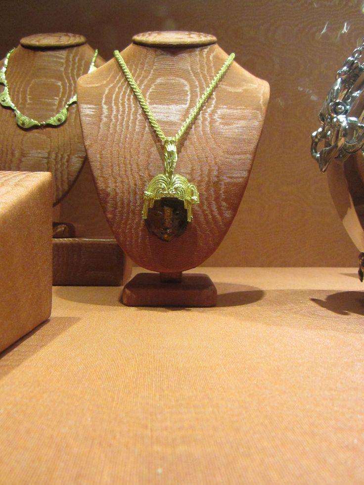 cadena con dije filigrama de oro con ambar de mexico
