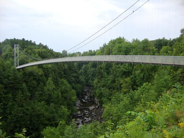 Guinness Record: The longest suspended footbridge in the world, Coaticook, Quebec