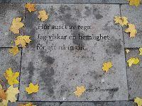 Street poetry by Tomas Tranströmer