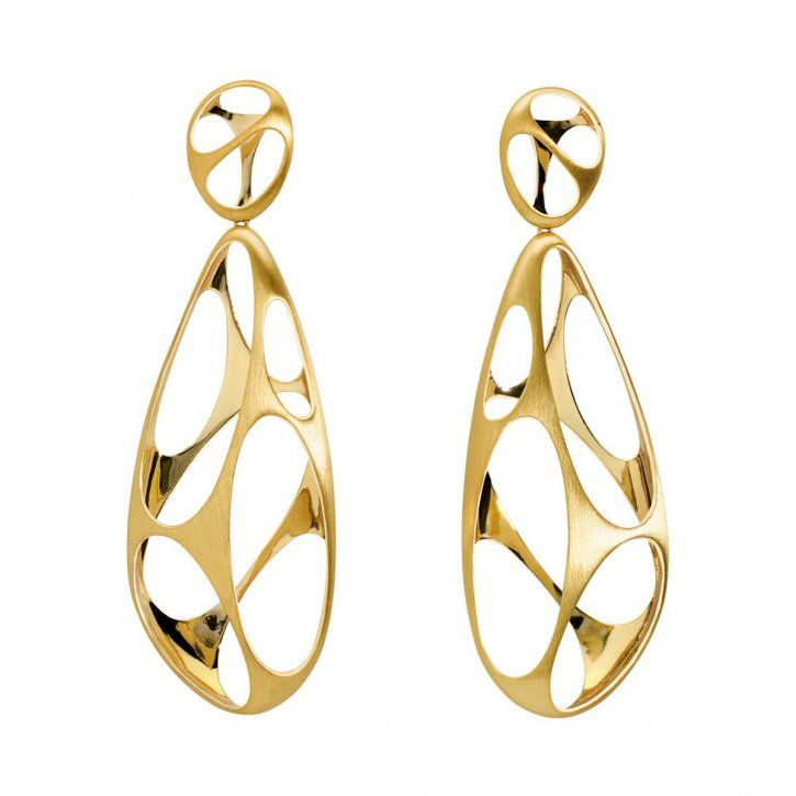 We'll show you a few gold earrings models here you'll like. Gold earring designs, beautiful gold earrings, gold earrings models in this photo gallery.
