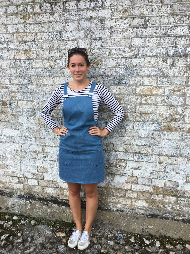Laura's Cleo dungaree dress - sewing pattern by Tilly and the Buttons