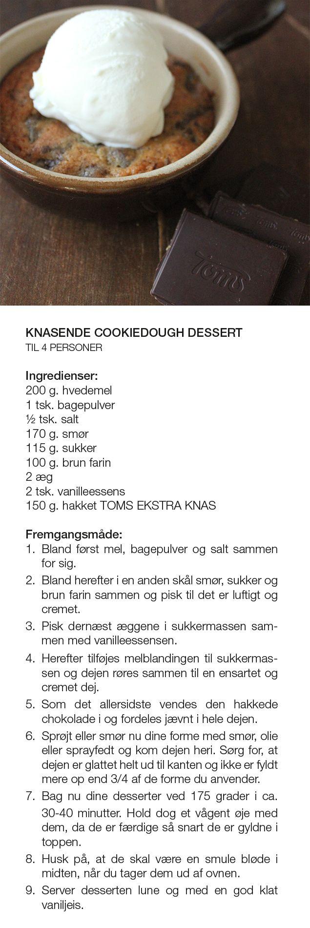 Knasende Cookiedough Dessert