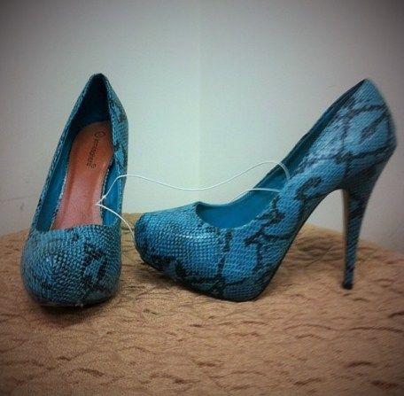 """Blue Snake Shoes"" courtesy of Atmosphere for the King's birthday :)"