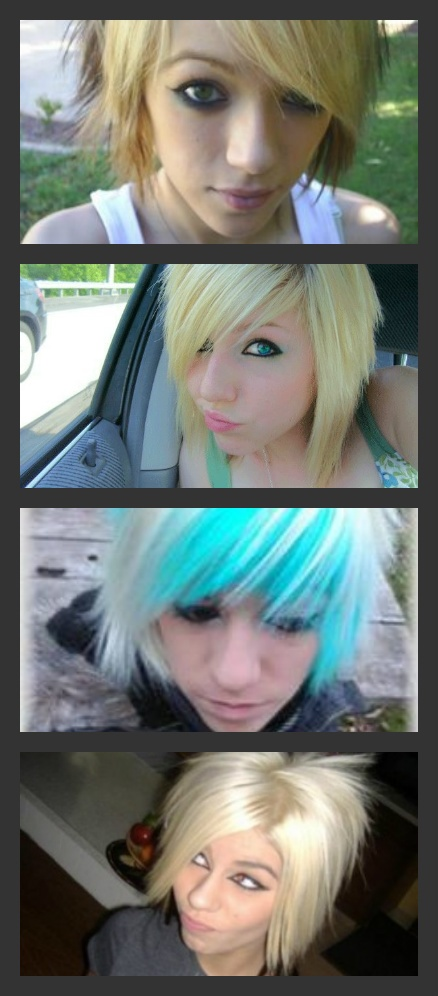 Girls looking for emo hair inspiration for short hair.