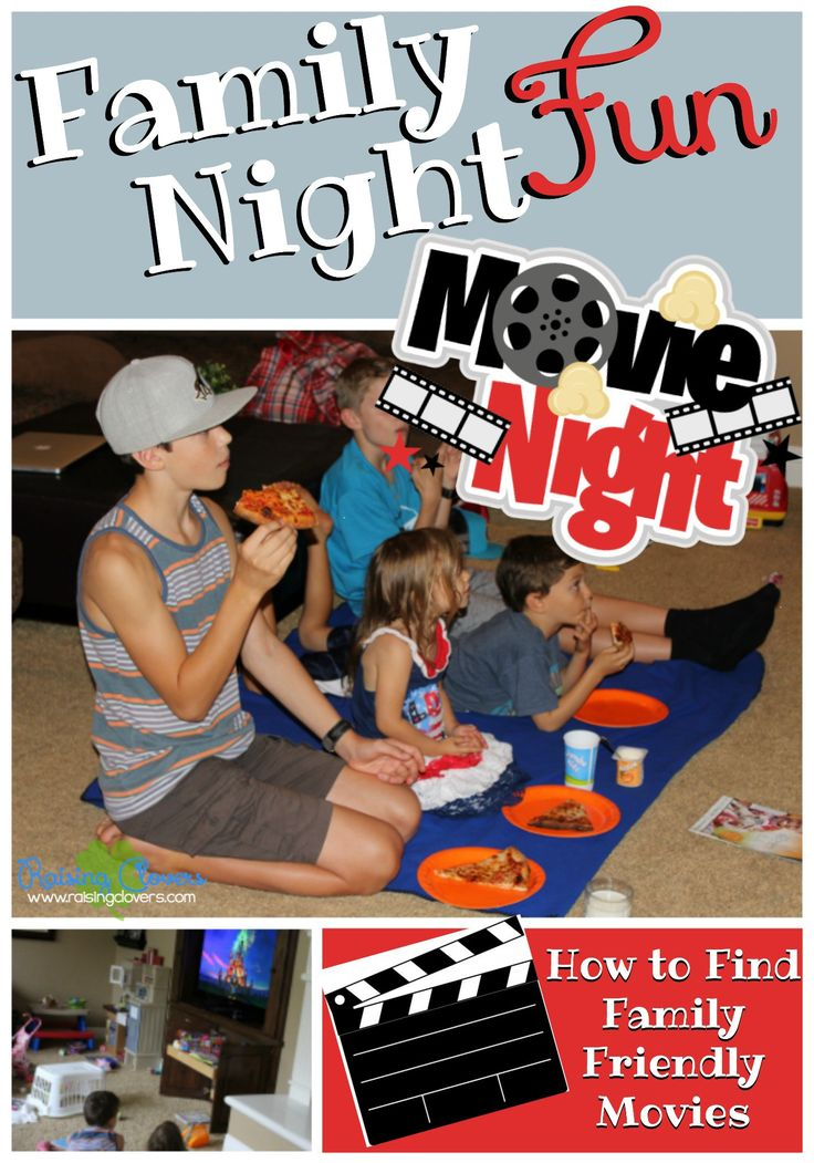 "Family Fun Night: Movie Nights by Kristi Clover from Raising Clovers -- We love finding great movies to enjoy as a family. We have made a tradition out of it. Most kids love watching movies, the problem is finding good, ""clean"" movies that the whole family can enjoy. See what I've discovered and how I make movie nights extra fun."