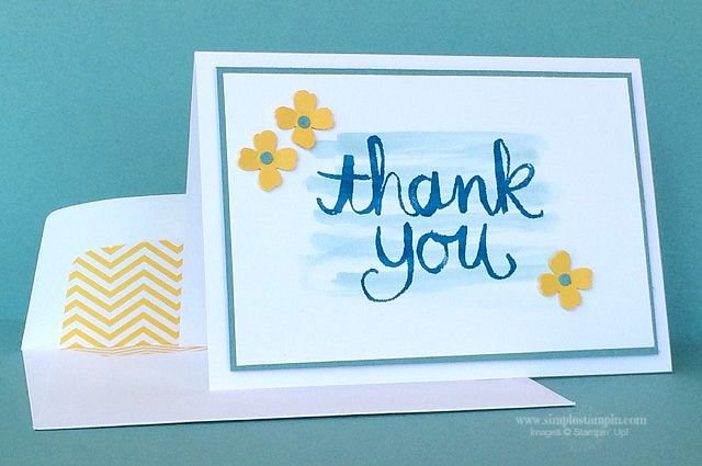 Stampin' Up! ... hand crafted thank you card ... clean and simple ... blue…