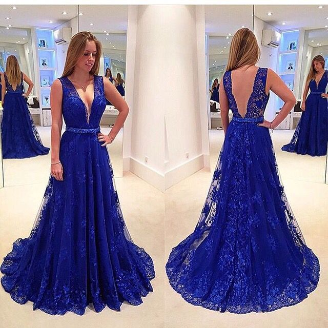 1000  ideas about Royal Blue Gown on Pinterest  Long blue prom ...
