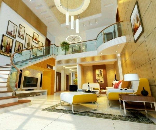 Faux plafond moderne idées de design magnifique - interieur design moderner wohnung urbanen stil