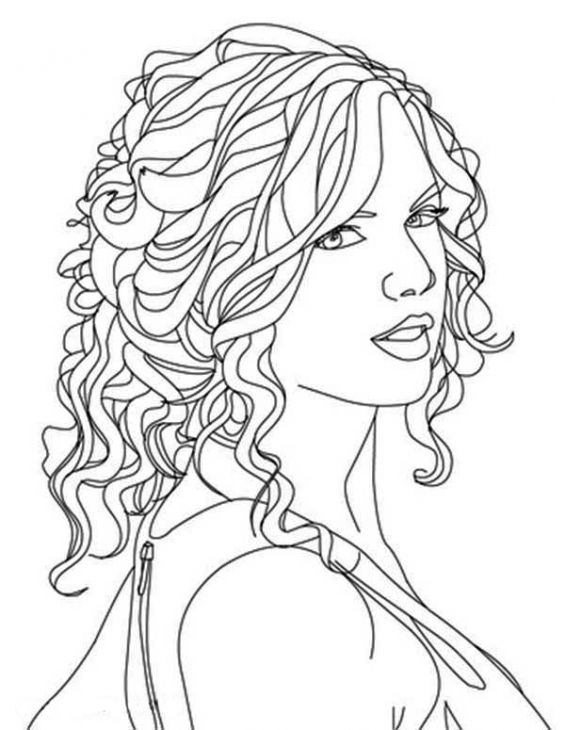 Drawing Lines With Swift : Free printable image of taylor swift to color famous