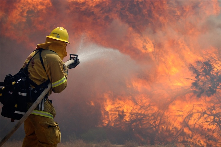 Crews battle banner fire near san diego via msnbc