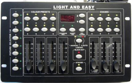 Light and Easy (similar to Acme) DMX controller suitable for almost any LED light using 4 to 8 channels.  Sorry, SOLD.