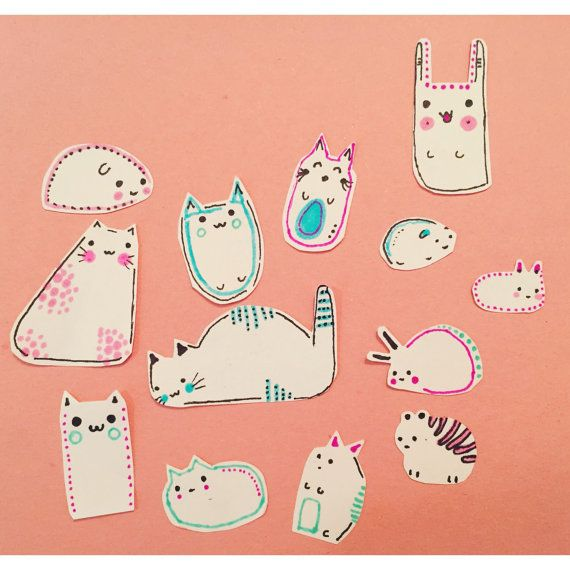 Kawaii Baby Cute Critters Sticker Set By: StudioOmega