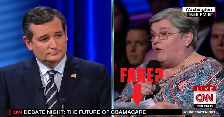 "Camera Caught CNN Email About ""Your Question"" in Questioner's Hand at ""Fair"" CNN Debate on Obamacare"