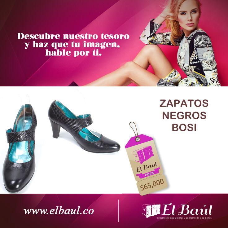 Zapatos negros Bosi, si tu pasión son los zapatos encuéntralos todos en El Baúl.  $65,000   http://elbaul.co/Productos/1562/Zapatos-negro-Bosi-