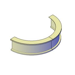 Circular Bar 3D CAD block