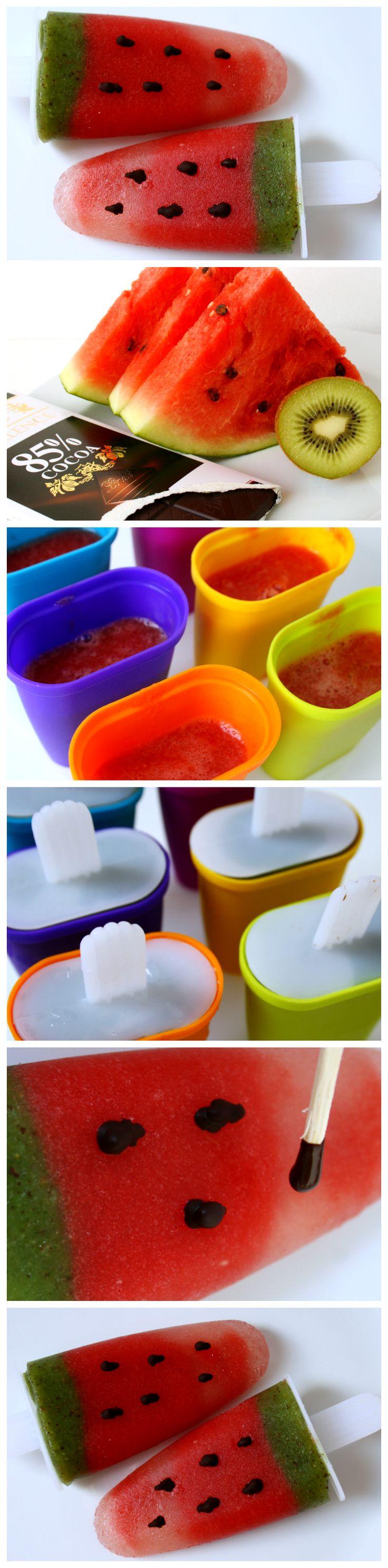 Osvěžující melounové nanuky. http://diyprojekty.blogspot.cz/