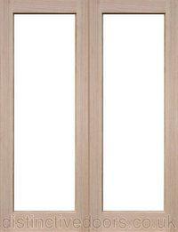 Sheaf unlazed internal oak door pair