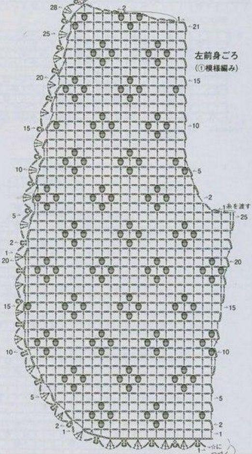 Вязание ажурного болеро2
