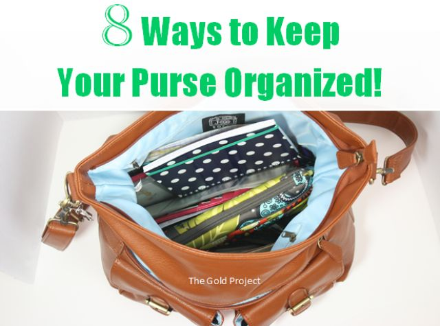 8 Ways to Keep Your Purse Organized at I'm an Organizing Junkie blog