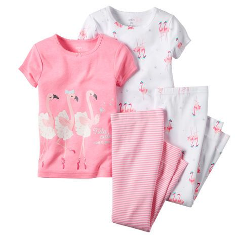 Kid Girl 4-Piece Snug Fit Cotton PJs from Carters.com. Shop clothing &…