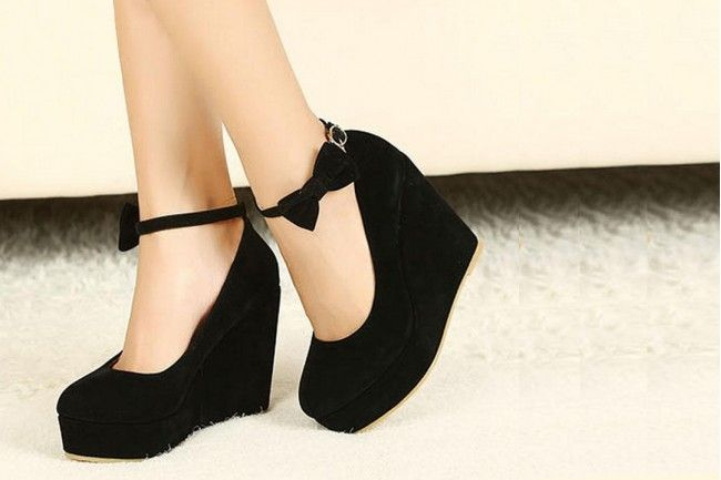 Cute Bow wedges