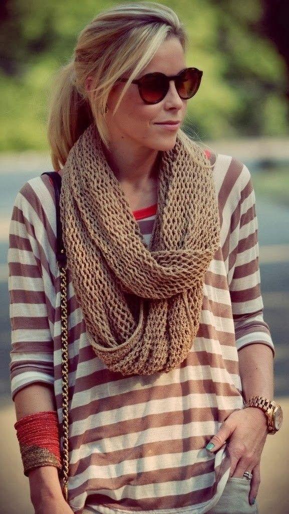 10 способов стильно носить шарф-снуд | Femmie