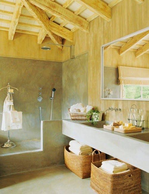 30 ideas de decoración para baños rústicos pequeños