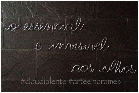 Artesanato De Olinda Pernambuco ~ Frases de parede (em arame) Quartos, Frases e Ems