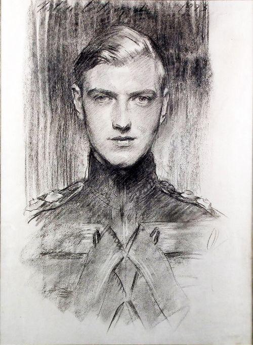 """malebeautyinart:  John Singer Sargent, Robert """"Bobbie"""" Gould Shaw III, 1923"""