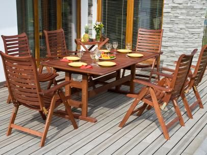 DIY Network offers tips to help you care for your wooden outdoor furniture and keep it looking its best for years.