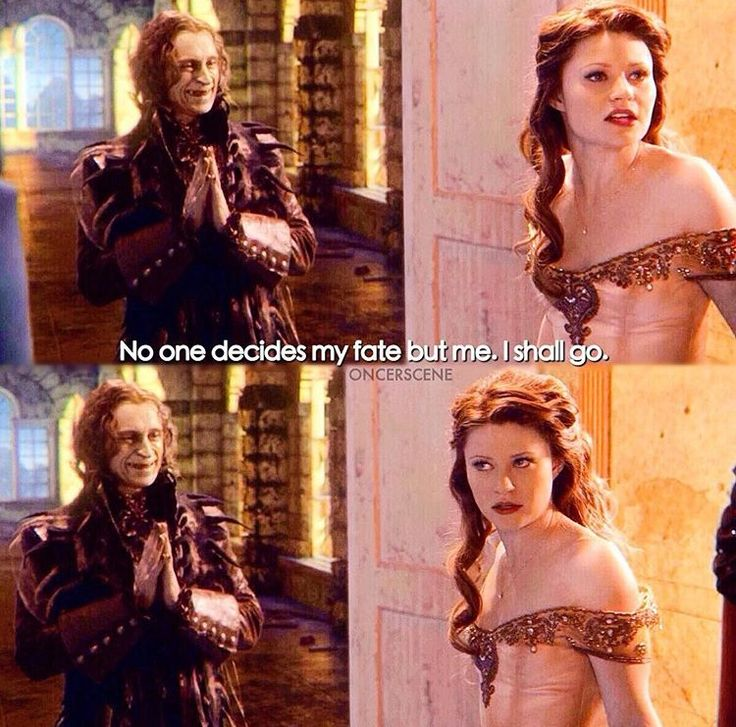 No one decides my fate but me. #belle #rumple #rumbelle