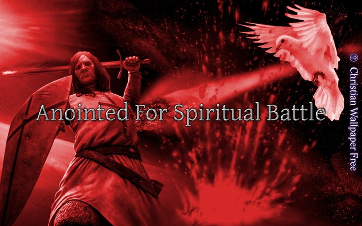 Anointed For Spiritual Battle In Red