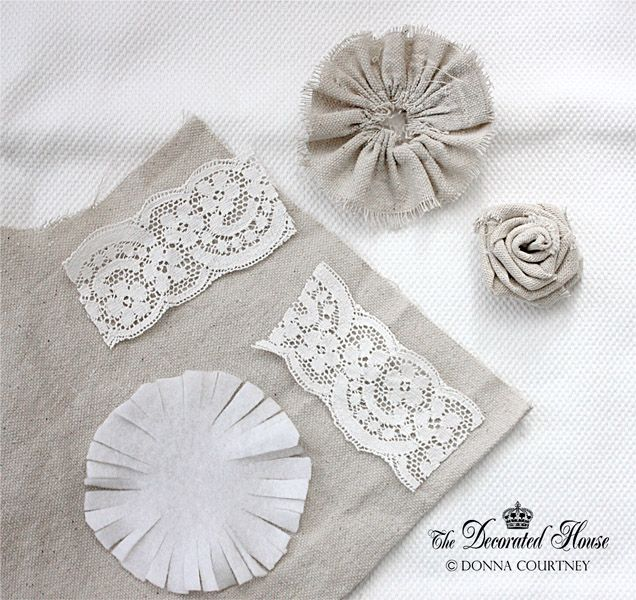 ~ How to Make Fabric Flowers Continued ... DIY Tutorial