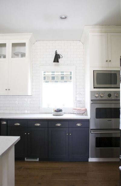 White tiled kitchen: http://www.stylemepretty.com/living/2015/01/12/neutral-living-and-dining-room/ | Photography: Jylare Smith - http://www.jylare.com/