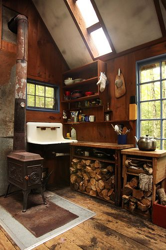 A bit more than a stove - and more rustic than vintage.  I could live here.
