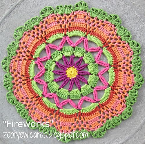 Ravelry: Fireworks Mandala free pattern by zelna olivier