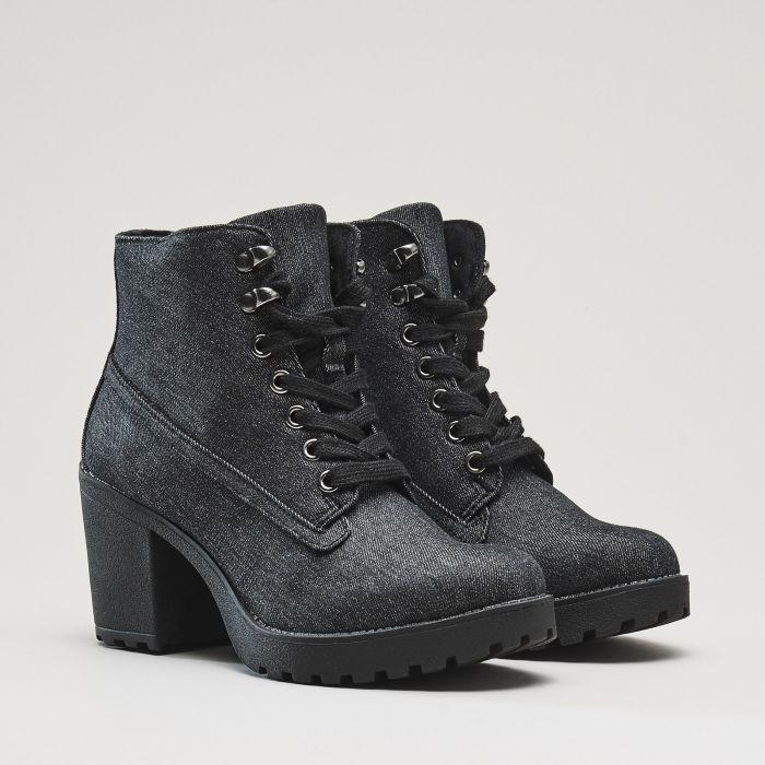 499 czk, Dámské kotníkové boty na podpatku, CROPP, QH966-99X