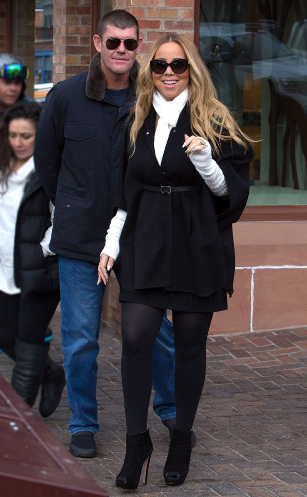 Mariah Carey Enjoys Snowball Fight With Her Twins Before Traveling to Aspen With Billionaire Boyfriend  James Packer, Mariah Carey