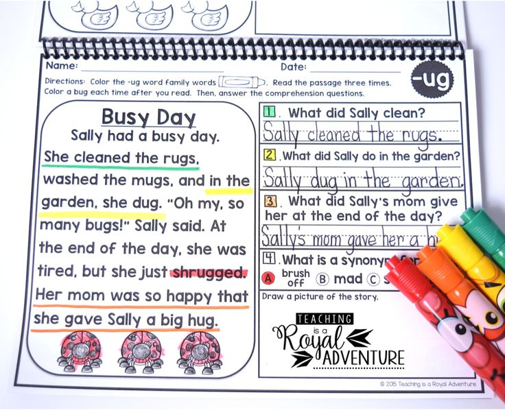 FREE Phonics Based Reading Passages Fluency and Skill Based Reading Comprehension Notebook (ALL YEAR). This free printable includes comprehension, fluency, vocabulary and writing. A great resource for teachers that will save you time and energy. These phonics activities exemplify engaging learning strategies with simple instructions and interactive activities. Click here to get your free printable pages.