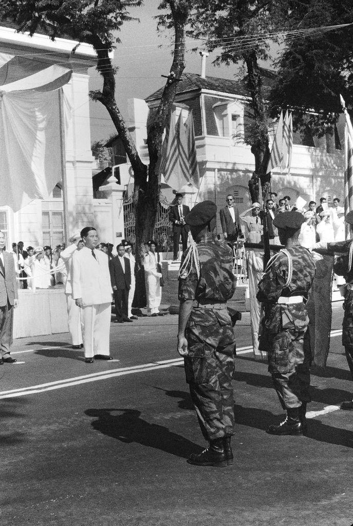 SAIGON 1962 - During ceremonies at Saigon, South Vietnam, the Vietnamese Air Force pledged its support for President Ngo Dinh Diem