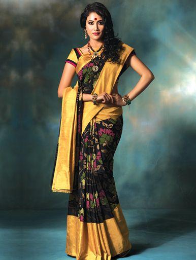 Uppada hand-woven silk saree