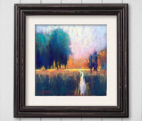 Original Pastel Painting Colors in Dusk